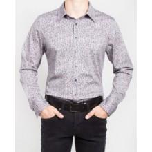 Мужская брендовая рубашка ENRICO BELENO 16235 DIGITAL PRINTING MERCERIZED SHIRT NAVY BLUE